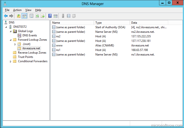 Hosting your public DNS servers on Windows Azure